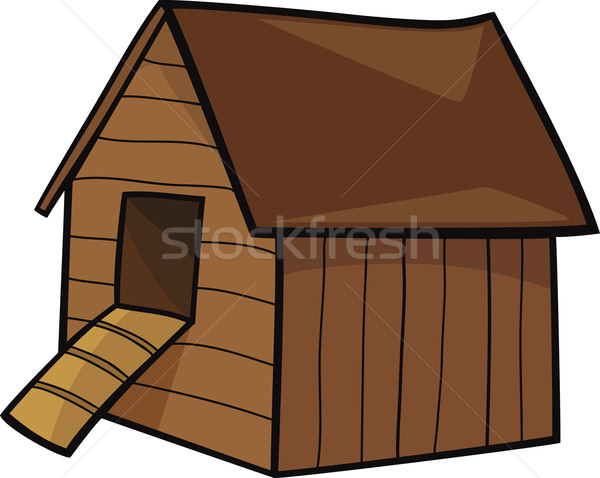 Stock photo: hen house
