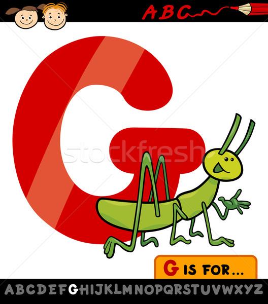 文字g グラスホッパー 漫画 実例 アルファベット ストックフォト © izakowski