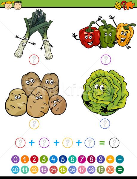 Matemático tarea Cartoon ilustración educación Foto stock © izakowski