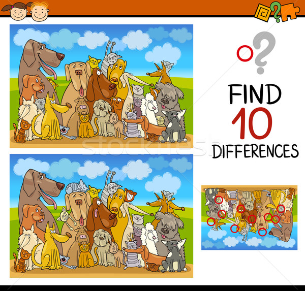 differences task for preschoolers Stock photo © izakowski