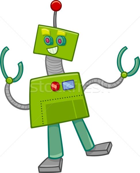 fantasy robot cartoon character Stock photo © izakowski