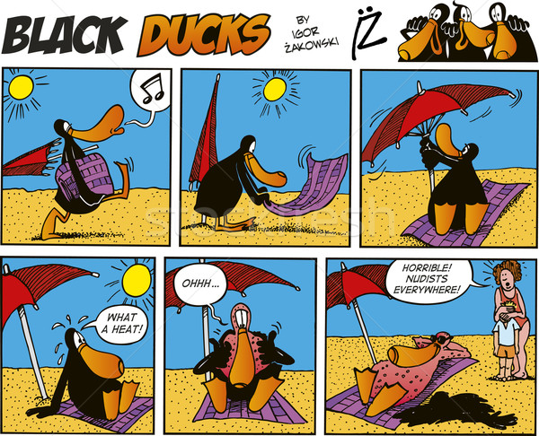 Black Ducks Comics episode 31 Stock photo © izakowski