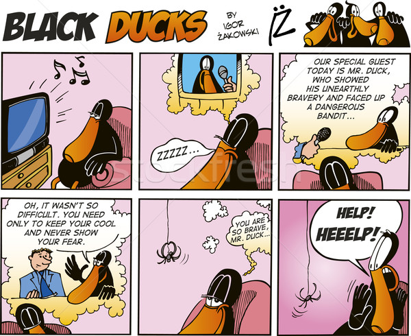 Black Ducks Comics episode 64 Stock photo © izakowski