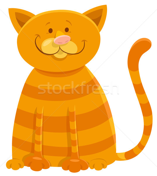 happy cat cartoon animal character Stock photo © izakowski