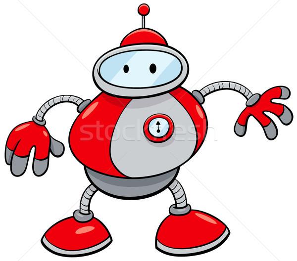 Estanho robô fantasia desenho animado ilustração Foto stock © izakowski