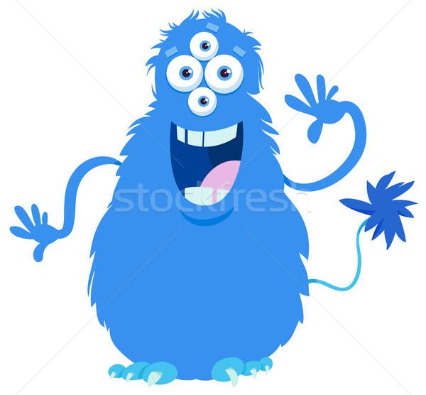 fantasy monster character cartoon illustration Stock photo © izakowski