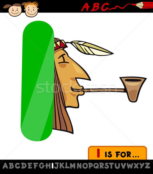 Letra i indiano desenho animado ilustração alfabeto Foto stock © izakowski