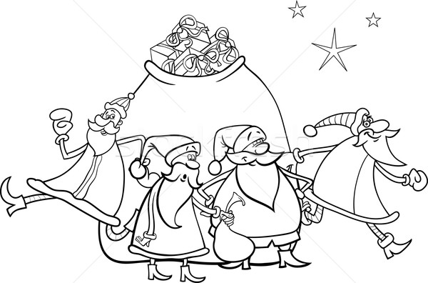 santa claus house coloring pages - photo#21