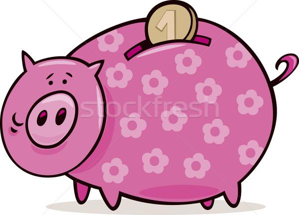 Piggy bank with coin Stock photo © izakowski