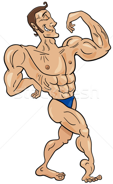 bodybuilder cartoon character Stock photo © izakowski