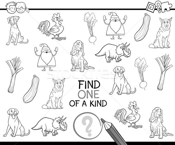 one of a kind coloring page Stock photo © izakowski