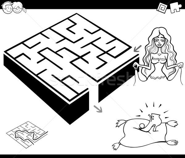 maze activity game with cinderella Stock photo © izakowski