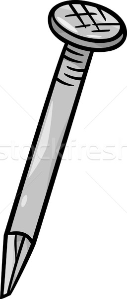 nail clip art cartoon illustration Stock photo © izakowski