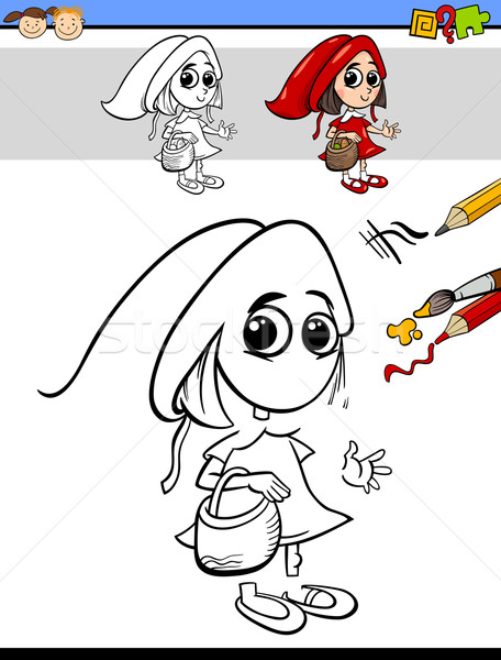 drawing and coloring task for children Stock photo © izakowski