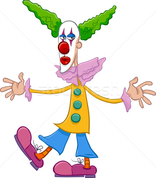 circus clown character cartoon Stock photo © izakowski