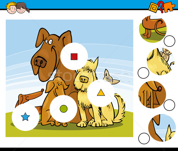match the pieces task with dogs Stock photo © izakowski