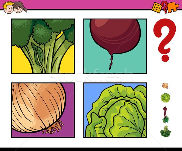 educational activity with vegetable Stock photo © izakowski