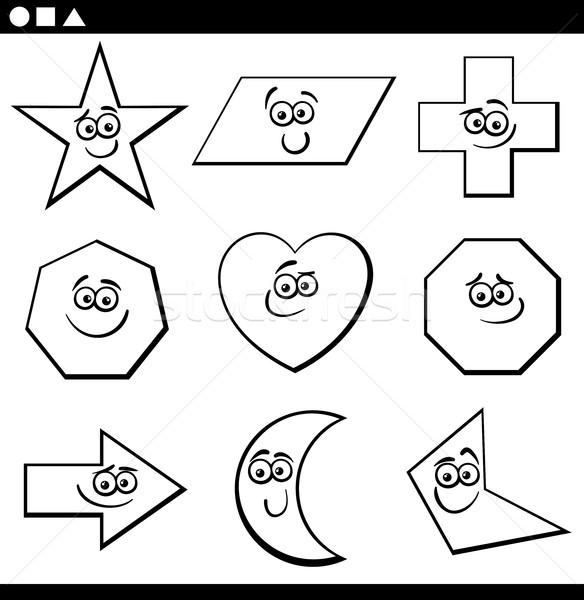 基本 幾何学的な 黒白 漫画 ストックフォト © izakowski