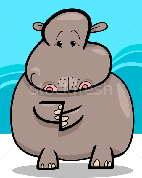 Hippo or Hippopotamus Cartoon Stock photo © izakowski