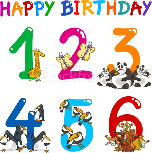 Birthday Anniversary cartoons set Stock photo © izakowski
