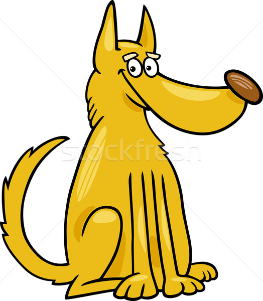 mongrel dog cartoon illustration Stock photo © izakowski