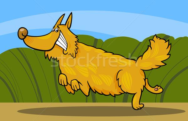 Cartoon felice cane illustrazione Foto d'archivio © izakowski