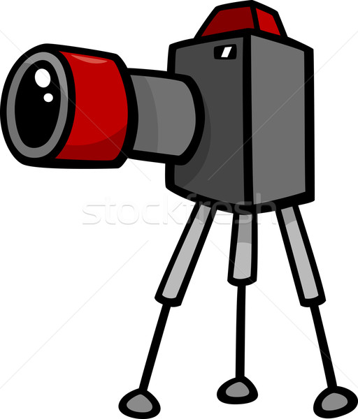 Caméra clipart cartoon illustration design art Photo stock © izakowski