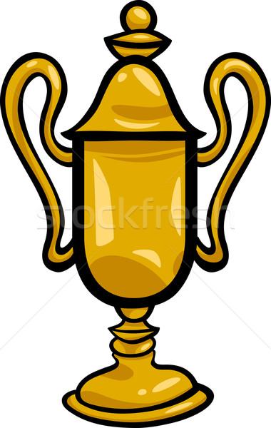 Kazanan fincan sanat klibi karikatür örnek altın Stok fotoğraf © izakowski