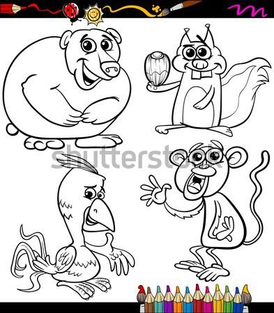 little red riding hood coloring book Stock photo © izakowski