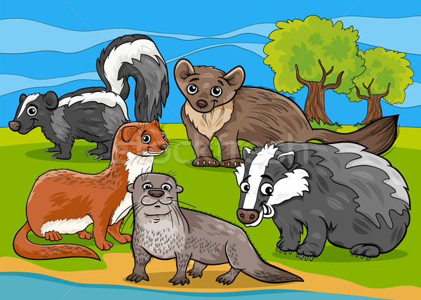 Dieren cartoon illustratie illustraties grappig zoogdieren Stockfoto © izakowski