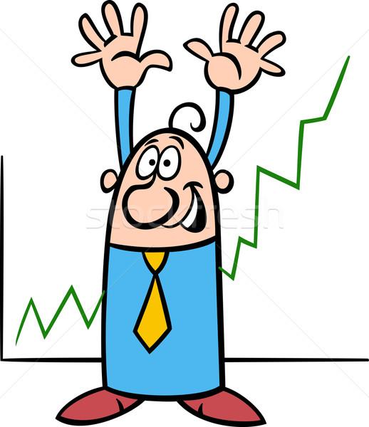 economic growth cartoon illustration Stock photo © izakowski