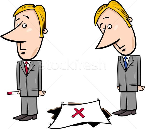 бизнесмен ловушка Cartoon иллюстрация служба осень Сток-фото © izakowski
