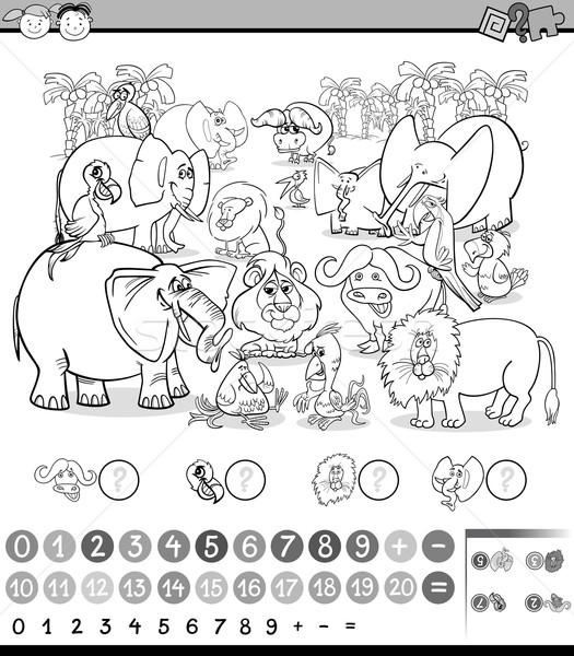 calculating game coloring page Stock photo © izakowski