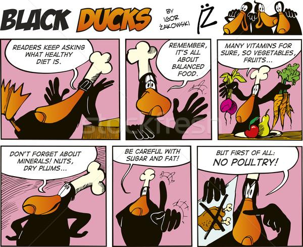 Black Ducks Comics episode 66 Stock photo © izakowski