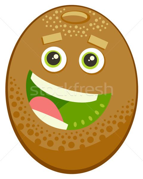 Cartoon kiwi vruchten karakter illustratie voedsel Stockfoto © izakowski