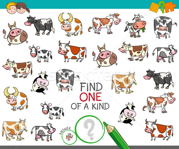 find one of a kind with cow characters Stock photo © izakowski