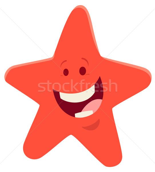 Desenho animado starfish animal ilustração feliz Foto stock © izakowski
