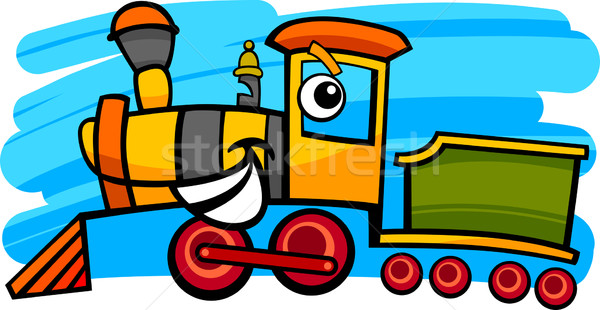 Karikatur Lokomotive Zug Zeichen Illustration cute Stock foto © izakowski