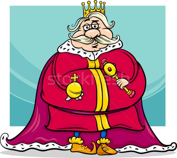 fat king cartoon fantasy character Stock photo © izakowski