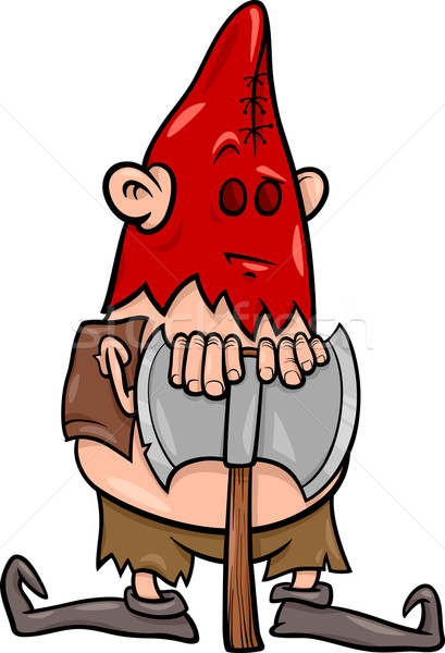 executioner with ax cartoon illustration Stock photo © izakowski