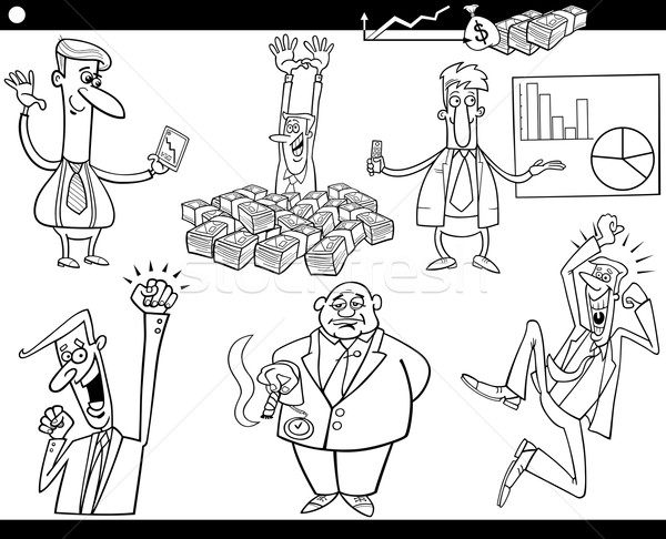 business cartoon concepts and ideas set Stock photo © izakowski