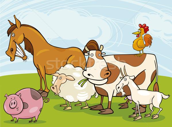 farm animals Stock photo © izakowski