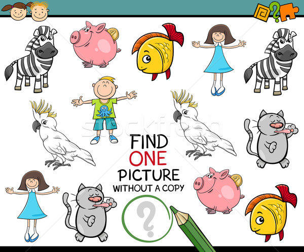 find single picture preschool game Stock photo © izakowski