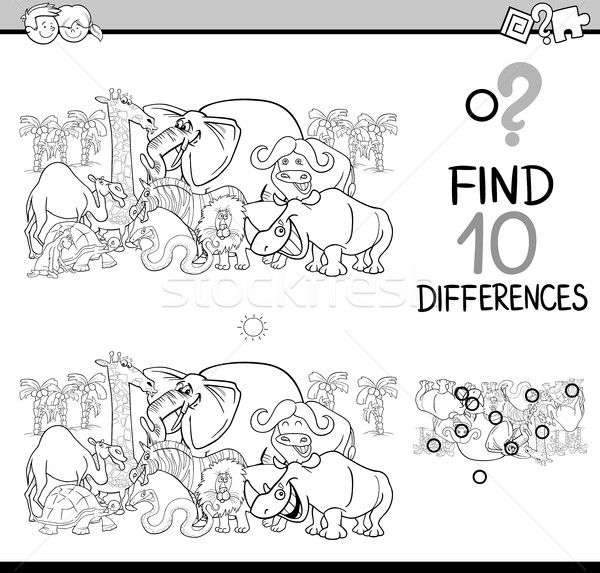 differences activity coloring page Stock photo © izakowski