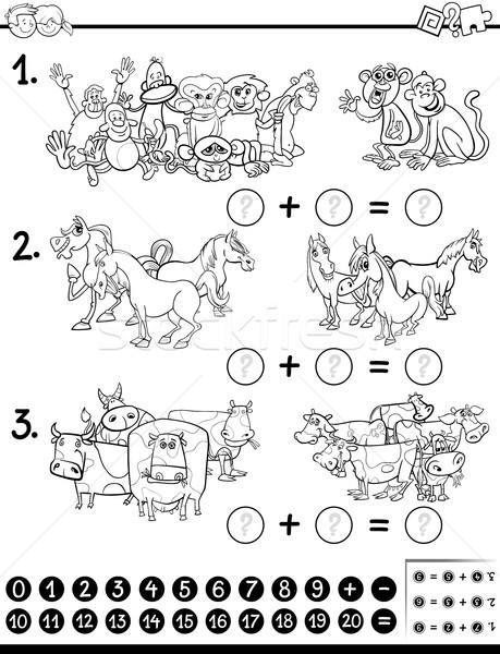 maths game coloring page Stock photo © izakowski