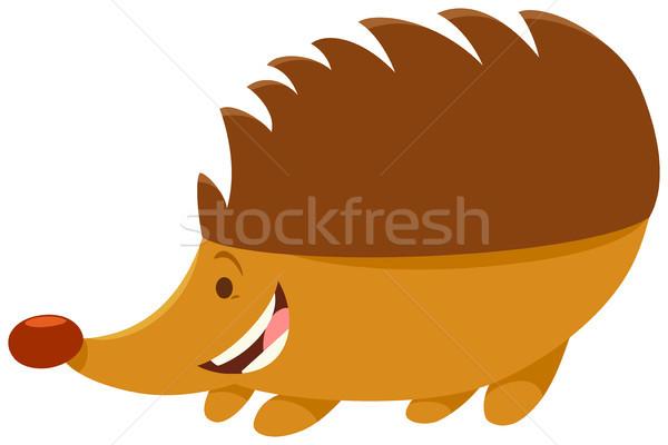 Jeż charakter cartoon ilustracja zwierząt Zdjęcia stock © izakowski