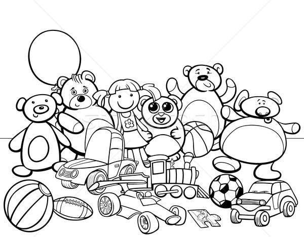 Jucării Grup Desen Animat Carte De Colorat