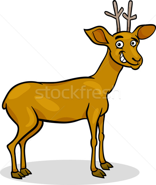 Stock photo: wild deer cartoon illustration