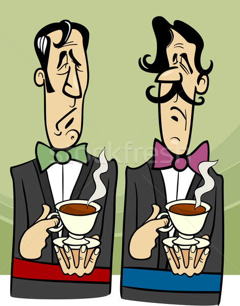 dignified gentlemen cartoon illustration Stock photo © izakowski