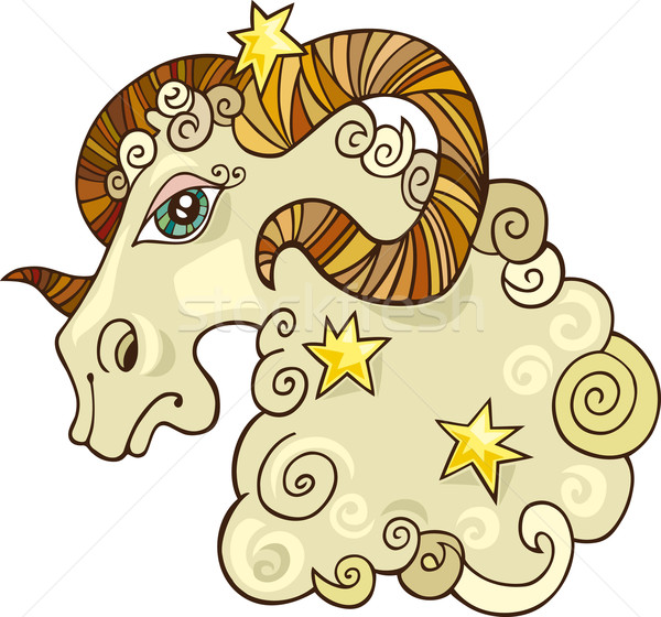 Zodiac aries sign Stock photo © izakowski
